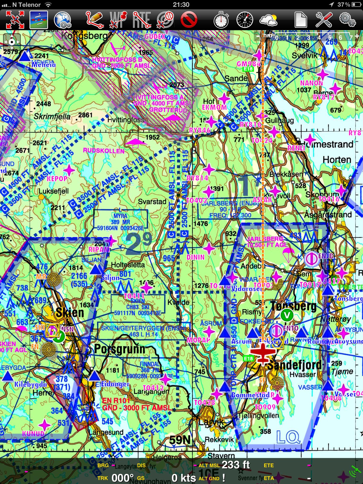 icao kart norge Norsk ICAO kart på Airnav Pro | AOPA Norway icao kart norge