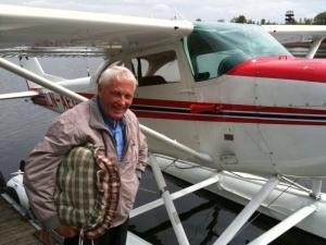 Kontrollant og norsk sjøflygings grand old man Kjell Meum i Kilen.