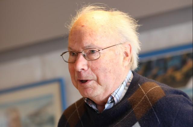 Paul Davidsen takket for seg under årsmøtet på Jarlsberg.